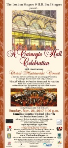 A Carnegie Hall Celebration Poster, 11.5 x 25 inch format